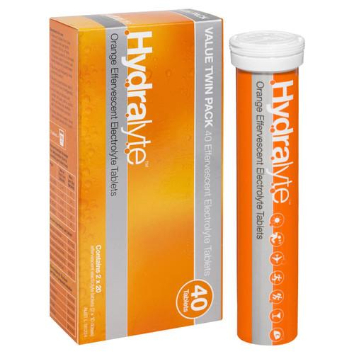 Hydralyte Effervescent Electrolyte Orange 40 Tablets Hydralyte SuperPharmacyPlus