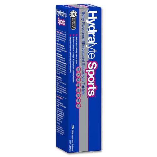 Hydralyte Sports Berry Effervescent Tablets 20 Hydralyte SuperPharmacyPlus