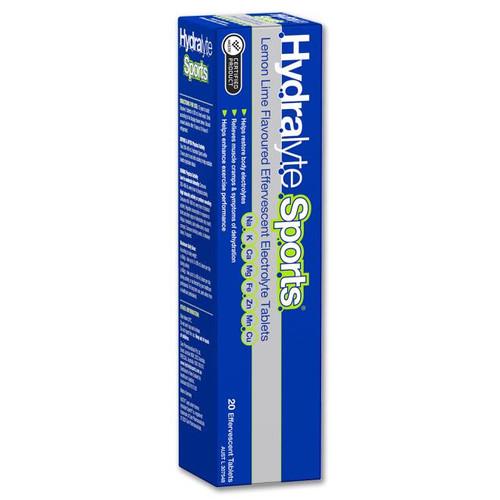 Hydralyte Sports Lemon Lime Effervescent Tablets 20 Hydralyte SuperPharmacyPlus