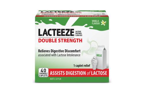 Lacteeze Double Strength 40 Chewable Caplets Lacteeze SuperPharmacyPlus