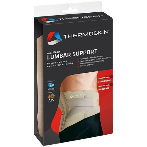 Thermoskin Adjustable Beige Lumbar Support XL Thermoskin SuperPharmacyPlus