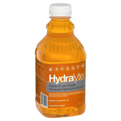 Hydralyte Electrolyte Solution or Orange or 1 Litre Hydralyte SuperPharmacyPlus