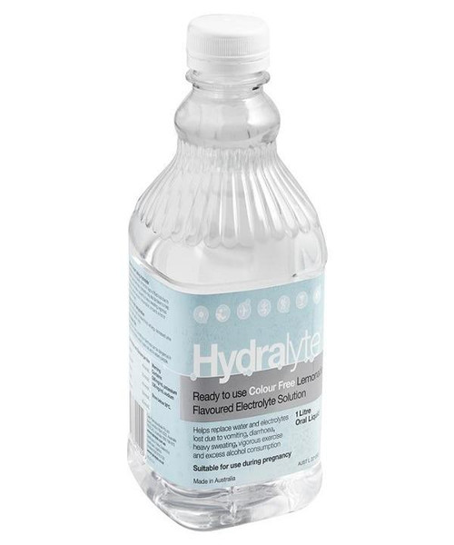 Hydralyte Electrolyte Solution or Colour Free Lemonade or 1 Litre Hydralyte SuperPharmacyPlus