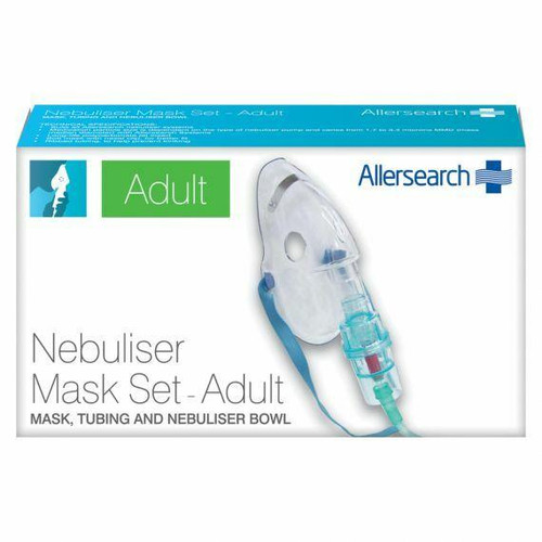 Allersearch Nebuliser Adult Face Mask Set Allersearch SuperPharmacyPlus