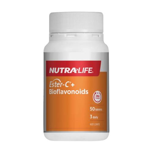 Nutralife Ester C 1000mg Bioflavonoids 50 Tablets NUTRALIFE SuperPharmacyPlus