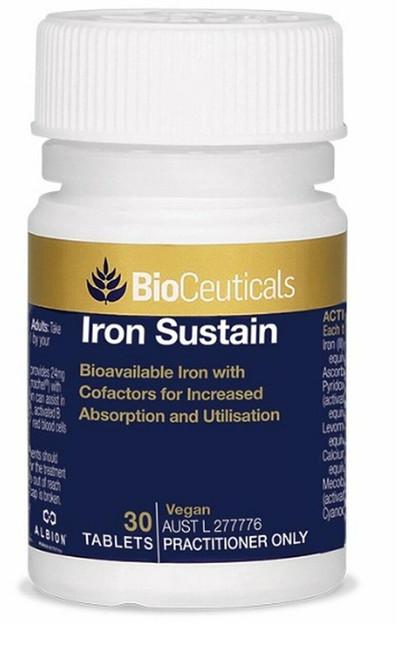 Bioceuticals Iron Sustain 30 Tablets BioCeuticals SuperPharmacyPlus