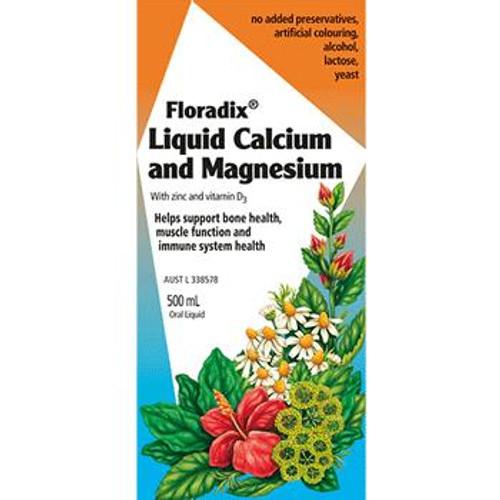 Floradix Calcium Magnesium with Zinc and Vitamin D 500mL Oral Liquid Floradix SuperPharmacyPlus
