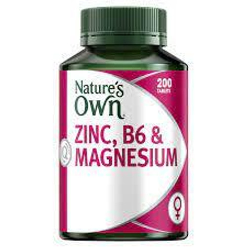 Natures Own Zinc, B6 and Magnesium 200 Tablets Natures Own SuperPharmacyPlus