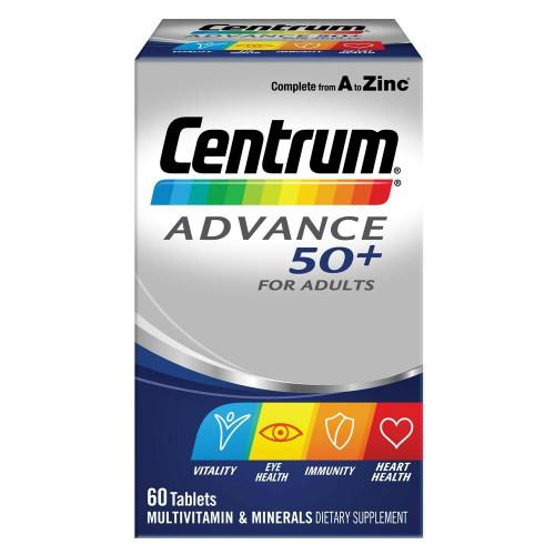 Centrum Advance 50 60 Tablets Centrum SuperPharmacyPlus