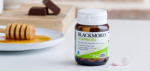 Blackmores Vit B12 Tablets 75 Pack Blackmores SuperPharmacyPlus
