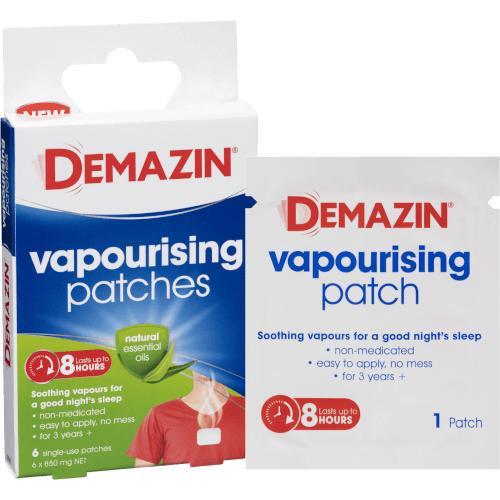 Demazin Vapourising Patches 6 Pack iNova SuperPharmacyPlus