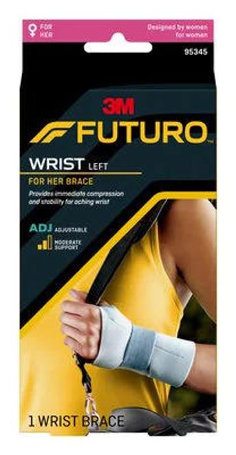Futuro For Her Adjustable Wrist Brace or Left 95345ENR Futuro SuperPharmacyPlus