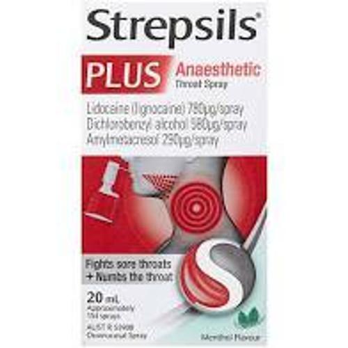 Strepsils Plus Throat Spray 20ml Reckitt Benckiser SuperPharmacyPlus