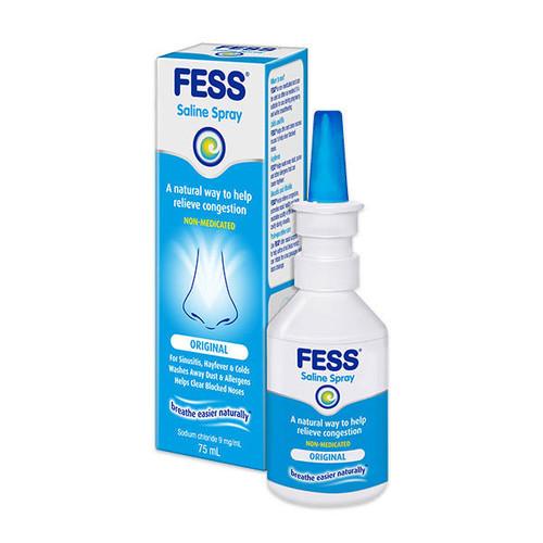 Fess Saline Nasal Spray 75mL Care Pharmaceuticals SuperPharmacyPlus