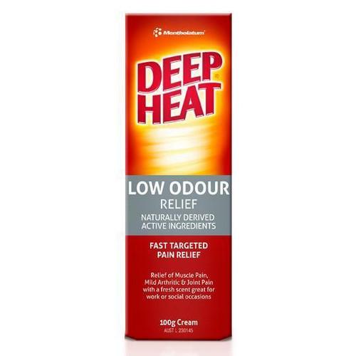 Deep Heat Low Odour Cream 100g Deep Heat SuperPharmacyPlus