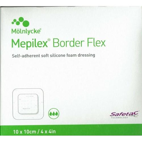 Mepilex Border Flex 10cm x 10cm Dressing 10 Pack Molnlycke SuperPharmacyPlus