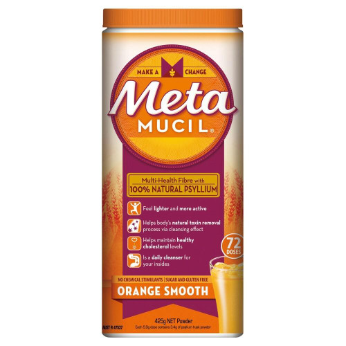 Metamucil Orange Smooth Fibre 72 Doses 425g Metamucil SuperPharmacyPlus
