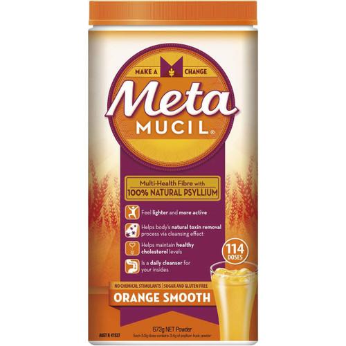 Metamucil Orange Smooth Fibre 114 Doses 673g Metamucil SuperPharmacyPlus