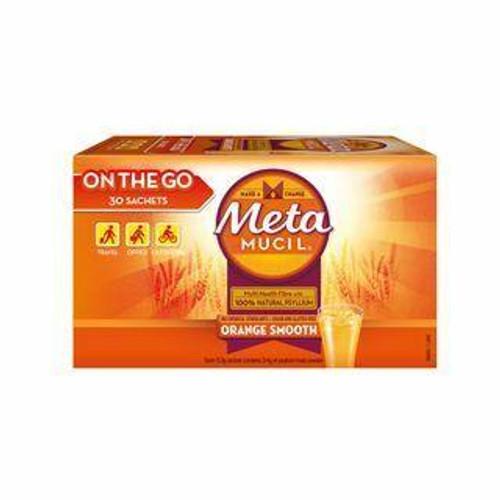 Metamucil Orange Smooth Fibre On The Go 30 Sachets Metamucil SuperPharmacyPlus