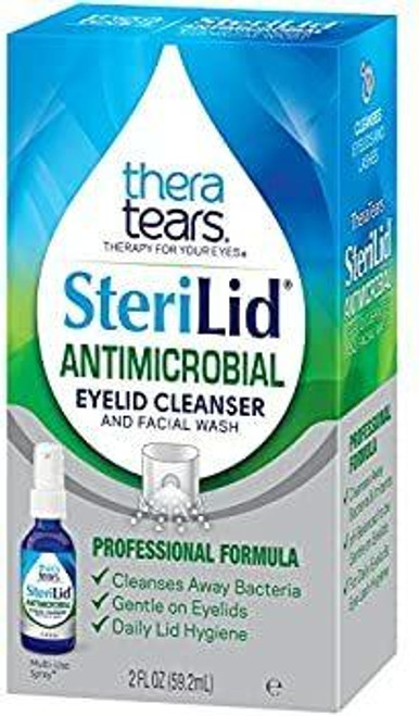 TheraTears Sterilid Antimicrobial Eyelid Cleanser and Facial Wash Thera Tears SuperPharmacyPlus