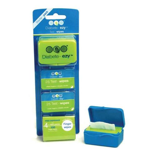 Diabete - Ezy Test Wipe Starter Pack 100 DiabeteEzy SuperPharmacyPlus