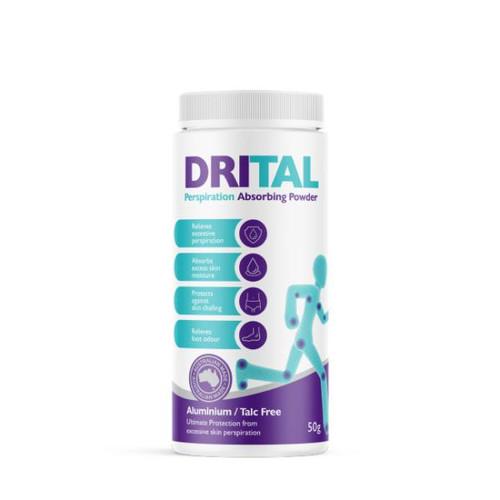DriTal Perspiration Absorbing Powder 50g Provendex SuperPharmacyPlus