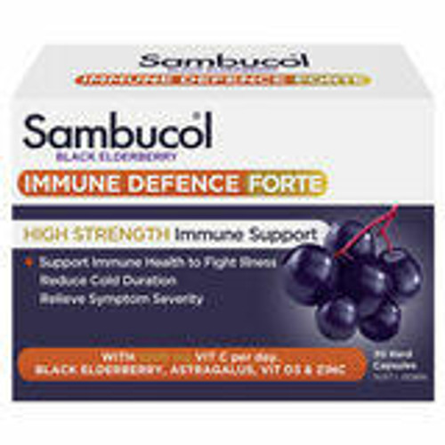 Sambucol Immune Defence Forte 30 Capsules PharmaCare Laboratories Pty Ltd SuperPharmacyPlus