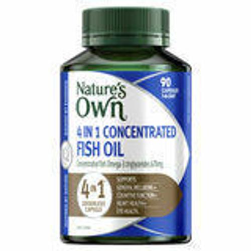 Natures Own 4-in-1 Concentrated Fish Oil 60 capsules Sanofi SuperPharmacyPlus