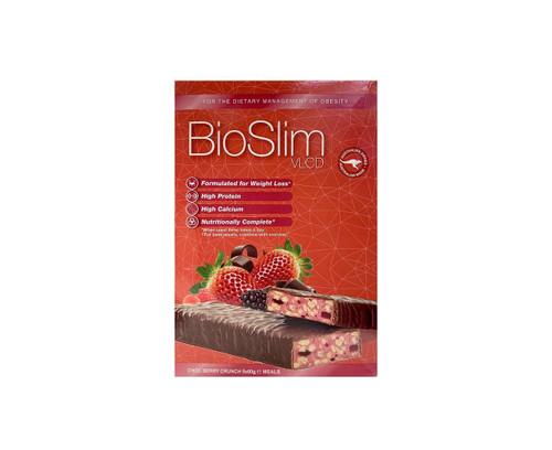 BioSlim VLCD Choc Berry Crunch Bars 5x60g Arrotex Pharmaceuticals SuperPharmacyPlus