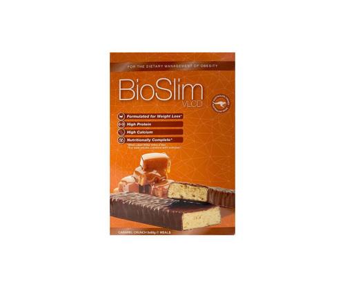 BioSlim VLCD Caramel Crunch Bars 5x60g Arrotex Pharmaceuticals SuperPharmacyPlus