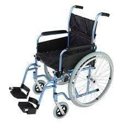 Aluminium Self Propelled Deluxe Wheelchair Blue MaxMobility SuperPharmacyPlus