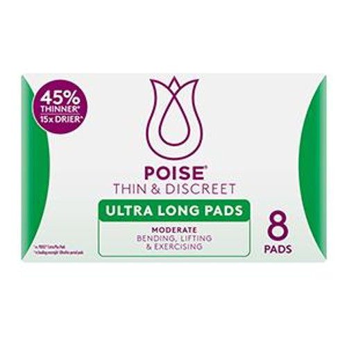 Poise Thin and Discreet Ultra Long Pads 8 Poise SuperPharmacyPlus