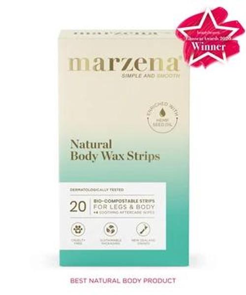 Marzena Natural Body Wax Strips 20 Marzena SuperPharmacyPlus