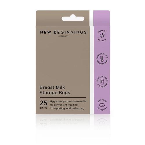 Breast Milk Storage Bags 25 Pack New Beginnings SuperPharmacyPlus
