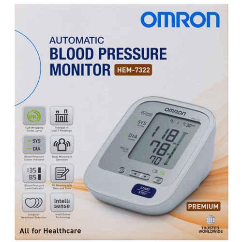 Omron Blood Pressure Monitor Premium HEM-7322 Omron SuperPharmacyPlus