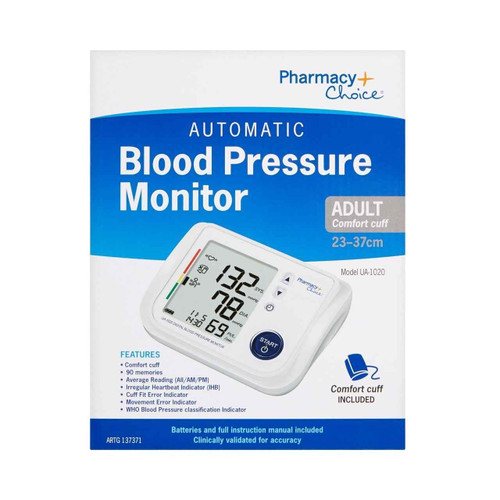 Pharmacy Choice Automatic Blood Pressure Monitor UA-1020 Pharmacy Choice SuperPharmacyPlus