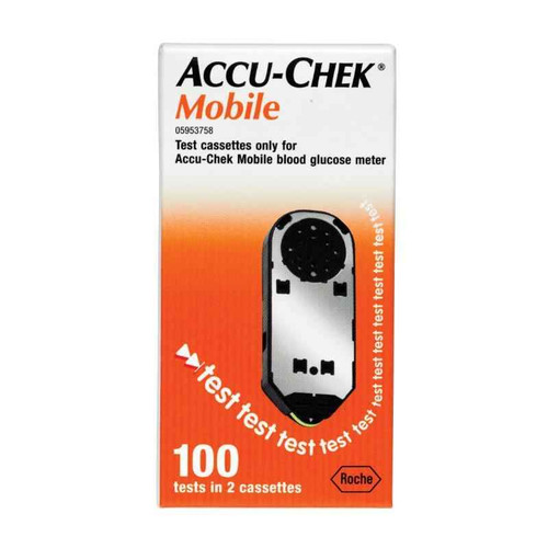 Accuchek Mobile BGlucose Test Cassettes 100 tests Accu-Chek SuperPharmacyPlus