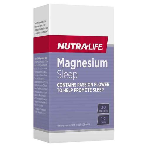 Nutra-Life Magnesium Sleep 30 Caps NUTRALIFE SuperPharmacyPlus