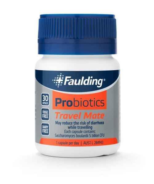 Faulding Probiotic Travel Mate 30 capsules Faulding SuperPharmacyPlus