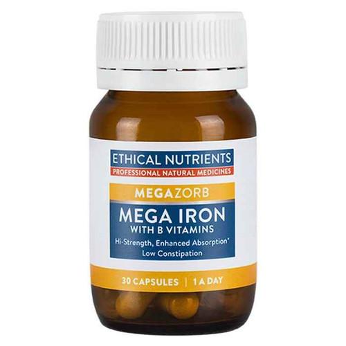 Ethical Nutrients Megazorb Mega Iron 30 Capsules Ethical Nutrients SuperPharmacyPlus