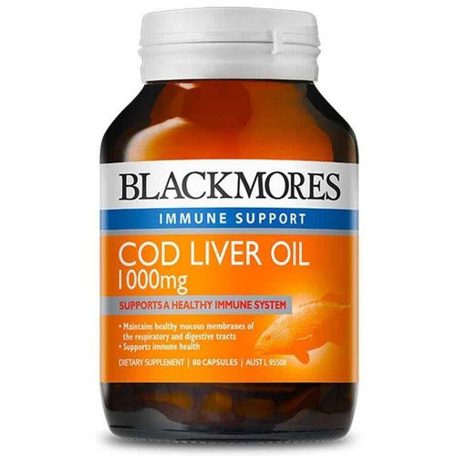 Blackmores Cod Liver Oil 1000mg 80 Capsules Blackmores SuperPharmacyPlus