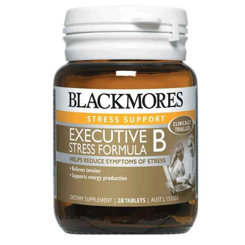 Blackmores Executive B Stress Formula With Herbs High Potency 28 Tablets Blackmores SuperPharmacyPlus