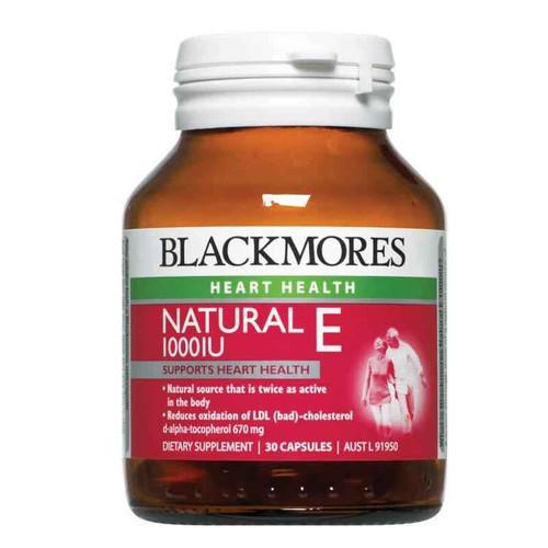 Blackmores Natural Vitamin E 1000IU 30 Capsules Blackmores SuperPharmacyPlus