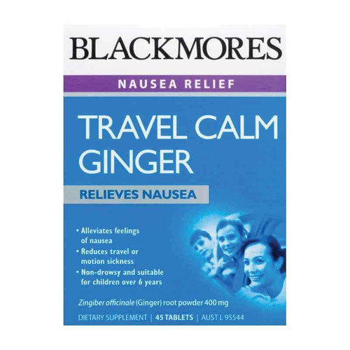 Blackmores Travel Calm Ginger 45 Tablets Blackmores SuperPharmacyPlus