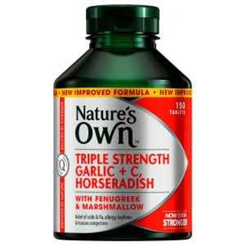 Natures Own Triple Strength Garlic C, Horseradish 150 Tablets Natures Own SuperPharmacyPlus