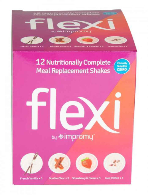 Flexi By Impromy Assorted Meal Replacement Shakes 12 Pack Biotech SuperPharmacyPlus