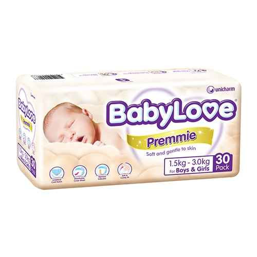 Babylove Premmie Nappies 1.5-3.0kg 30 Pack BabyLove SuperPharmacyPlus