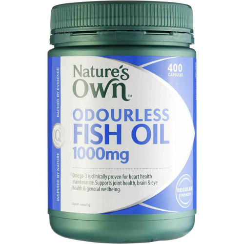 Natures Own Odourless Fish Oil 1000mg 400 Capsules Natures Own SuperPharmacyPlus