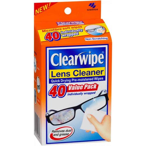 Clearwipe Lens Cleaner 40 Wipes Kobayashi SuperPharmacyPlus