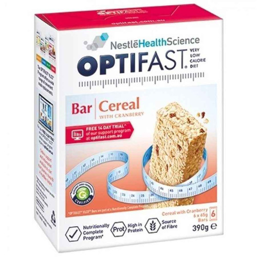 Optifast VLCD Cereal Bars 65g x 6 Pack Nestle Health Science SuperPharmacyPlus